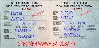 Carte De Tourisme Cuba Formulaire.Carte De Tourisme Visa La France A Cuba
